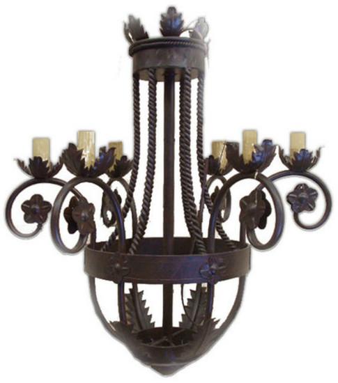 custom made iron chandelier