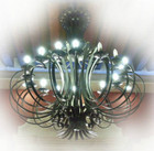 industrial iron chandelier