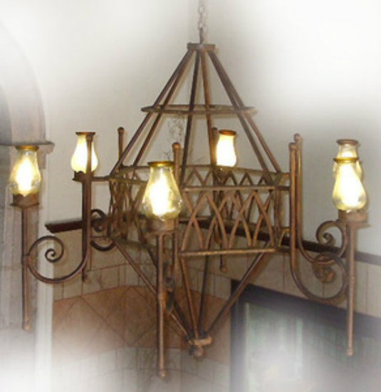 forged iron chandelier