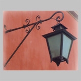 country outdoor walliron lantern