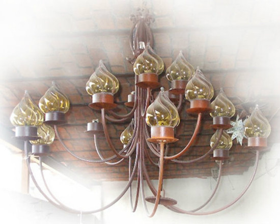 colonial iron chandelier
