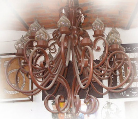 country iron chandelier