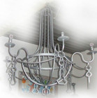 old country iron chandelier