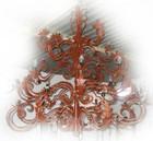 old european iron chandelier