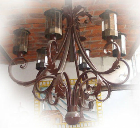 traditional iron chandelier