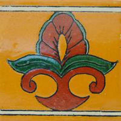 talavera tile green terra cotta