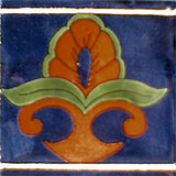 talavera tile terra cotta green blue