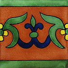 artisan made talavera tile terracotta