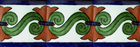 talavera tiles green cobalt