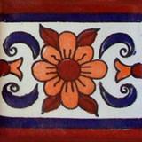 mexican stair rise tile white terracotta blue