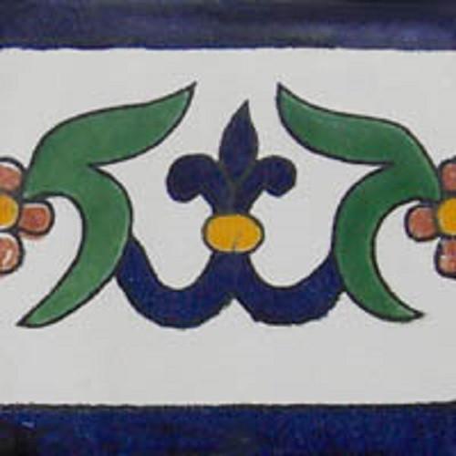painted talavera tile cobalt green