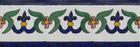 painted talavera tiles cobalt green