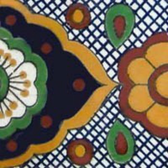 hand painted talavera tile Arabic