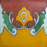 decorative talavera tile terra cotta yellow