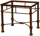 rustic forged iron table base