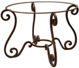 colonial forged iron table base