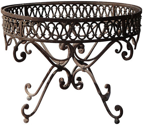 Mexican forged iron table base