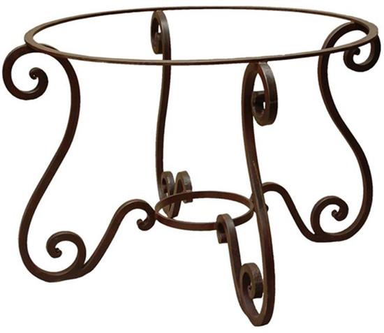 custom forged iron table base
