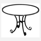 wrought iron table base