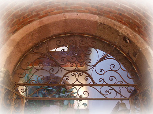 charming forged iron window guards