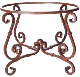 Mediterranean forged iron table base