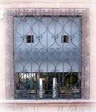hand made forged iron window guards