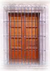 folk art forged iron window guards