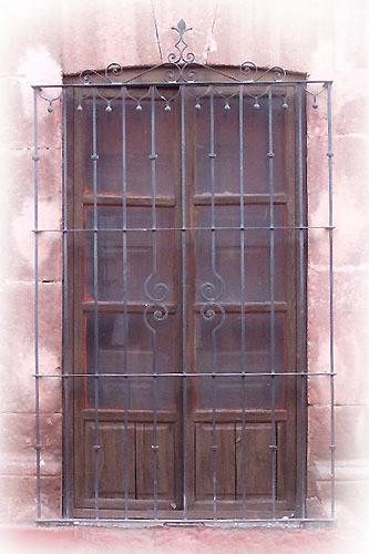 Moorish forged iron window guards