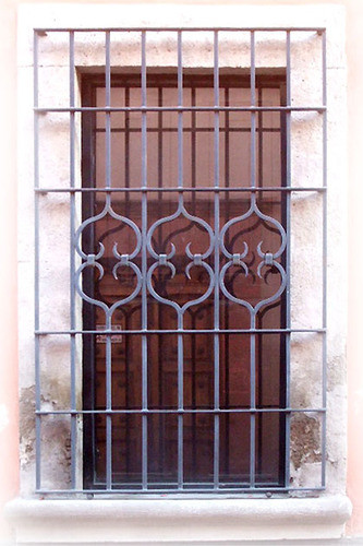 Mediterranean forged iron window guards