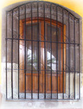 colonial forged iron window guards