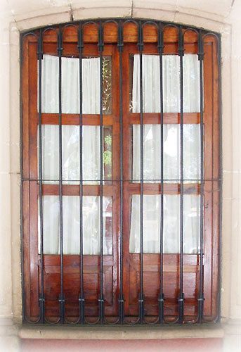 rustic forged iron window guards