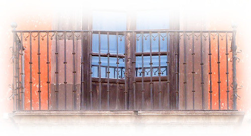 colonial forged iron balcony