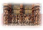 Southern forged iron balcony
