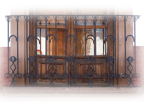 personality forged iron balcony