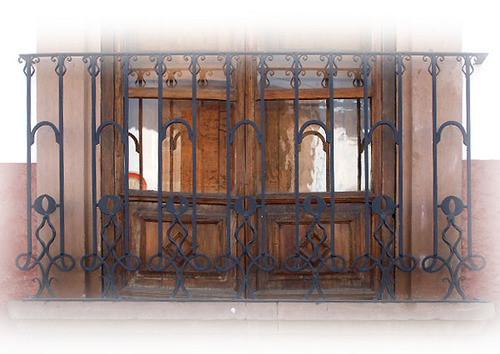 personality forged iron balcony