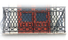 Spanish influence forged iron balcony