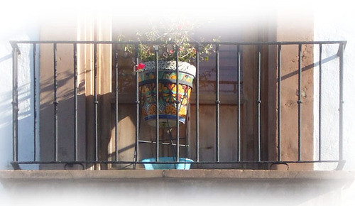 Spanish forged iron balcony