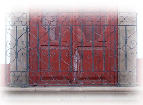 Mediterranean forged iron balcony