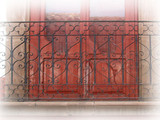 Southwestern forged iron balcony
