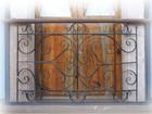 Moorish forged iron balcony