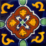 hacienda Mexican tile terracotta yellow green
