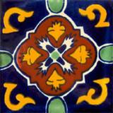 hacienda Mexican tile terracotta yellow green