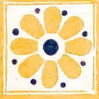 Mediterranean Mexican tile yellow blue white