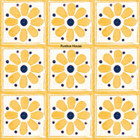 Mediterranean Mexican tiles yellow blue