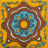 Spanish Mexican tile blue terracotta