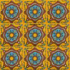 Spanish Mexican tiles blue terracotta