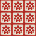 hand made Mexican tiles red white