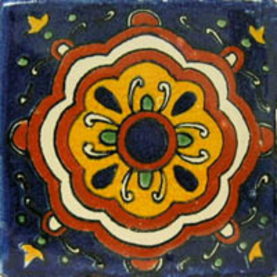 hacienda Mexican tile terracotta yellow