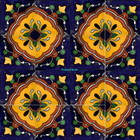 hand crafted Mexican tiles yellow terracotta