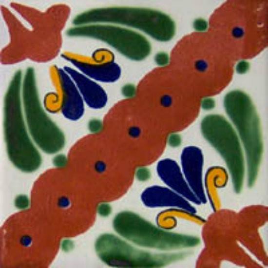 hacienda Mexican tile terracotta green